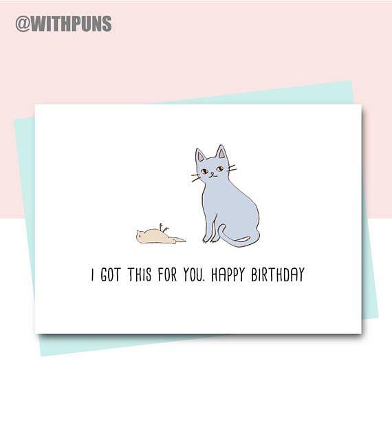 Funny Birthday Card Friend Birthday Card Cat Card Animal Etsy Birthday Cards Funny Friend Birthday Cards For Friends Funny Birthday Cards