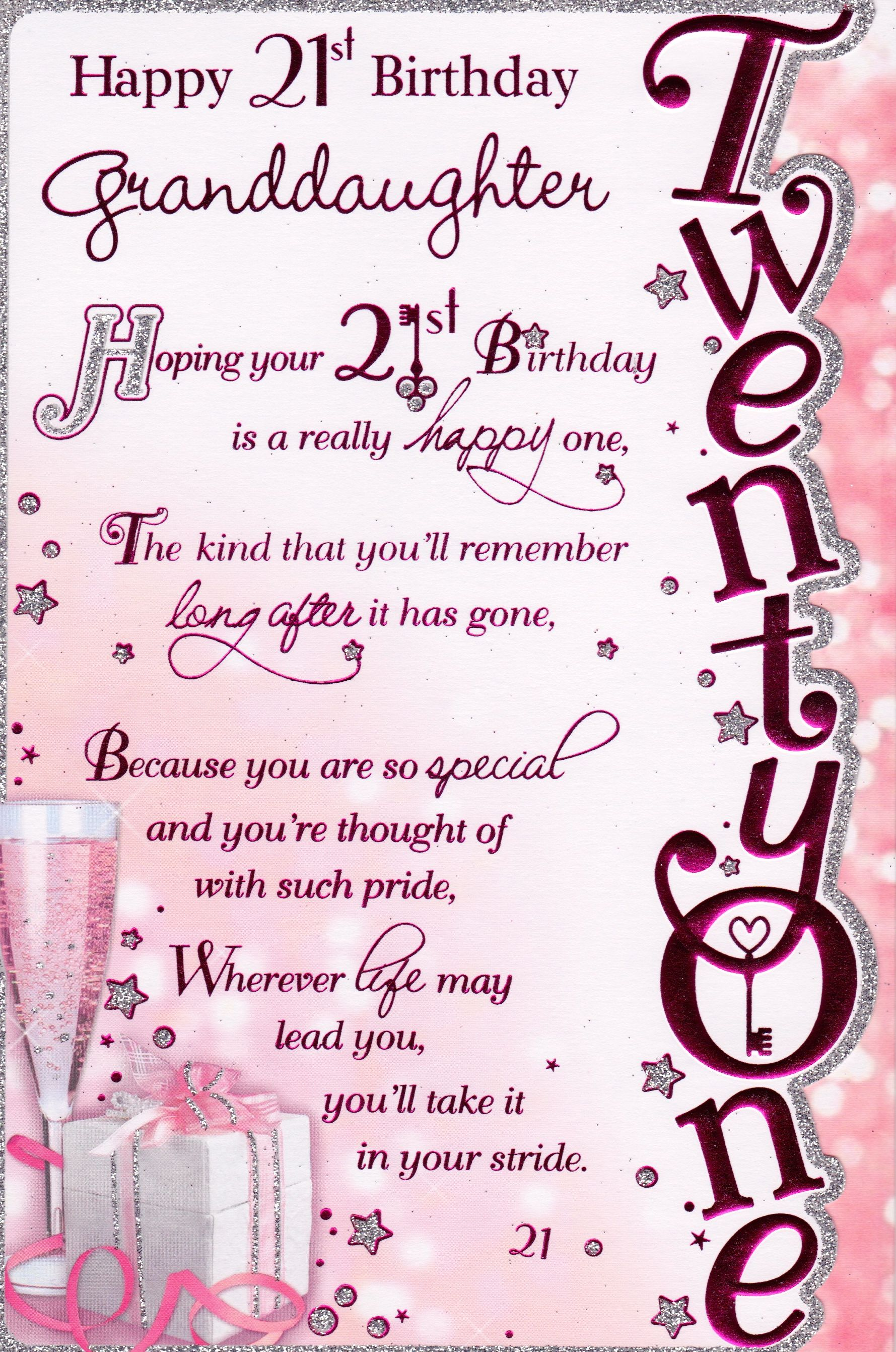 Happy 21st Birthday Daughter Quotes Cards For Niece