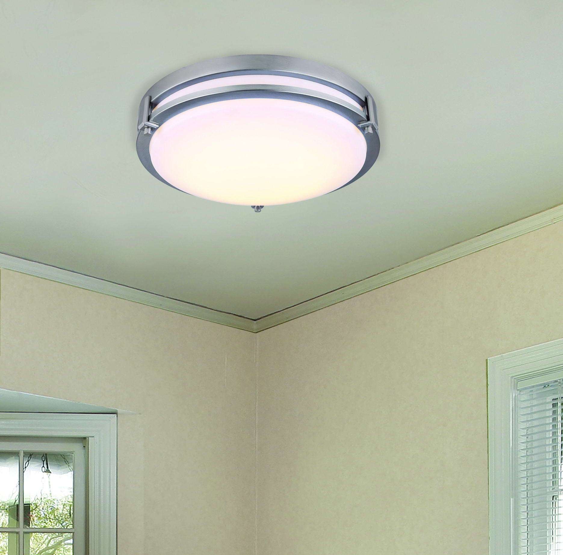 Patriot Lighting® Gilda LED Flush-Mount Light with Brushed Nickel ...