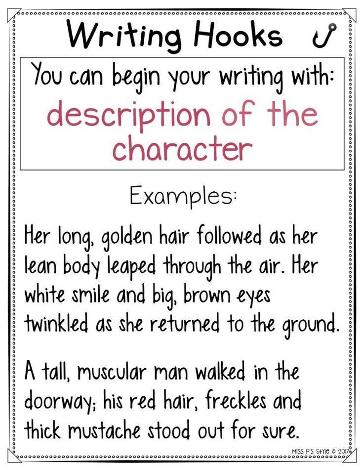writing hooks charts  writing hooks book writing tips