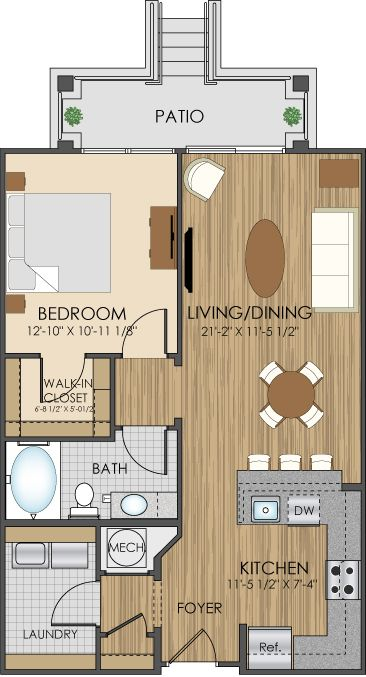 Floor plans of hidden creek apartments in gaithersburg md for Condo plans with garage
