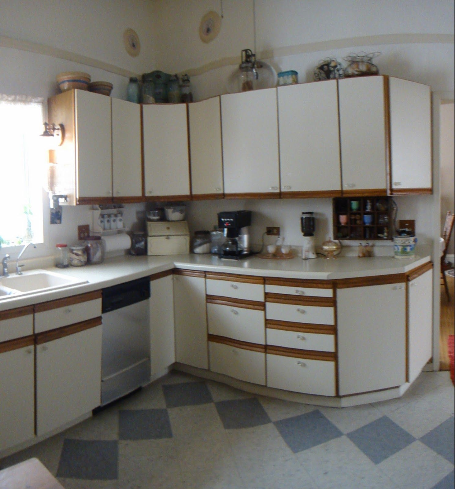 Kitchen Cabinet Makeover Ideas Paint: White Melamine Kitchen Cabinets Designforlifeden With