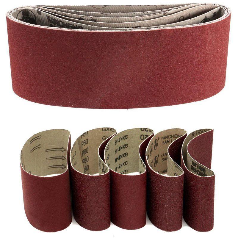 5 X Mixed Power Tool Sander Sanding Belt Belts 75mm X 457mm 60 80 120 240 Grit Mixed Power Tool Sander Sanding Belt Belts Belt Tools For Sale