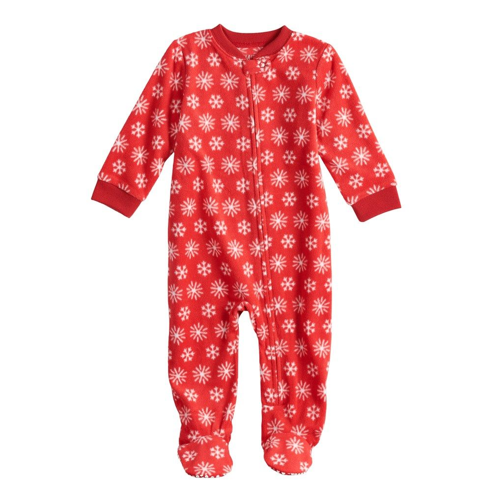 7e17ffb539 Baby Infant Jammies For Your Families Snowflakes Microfleece Blanket  Sleeper One-Piece Pajamas