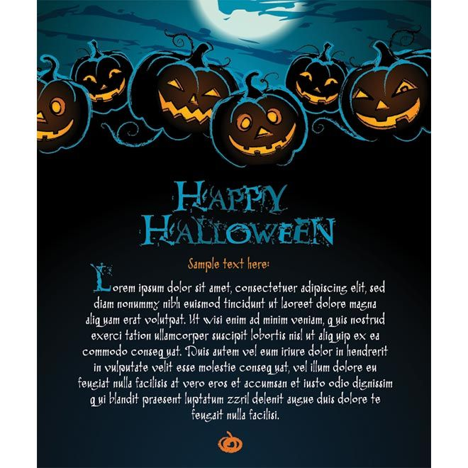 Happy Halloween Greeting Card Template Vector Halloween Party Invitation Template Free Halloween Invitations Halloween Invitations