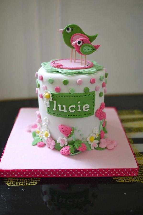 Phenomenal Birds Cake Bird Cakes Childrens Birthday Cakes Little Girl Cakes Personalised Birthday Cards Cominlily Jamesorg