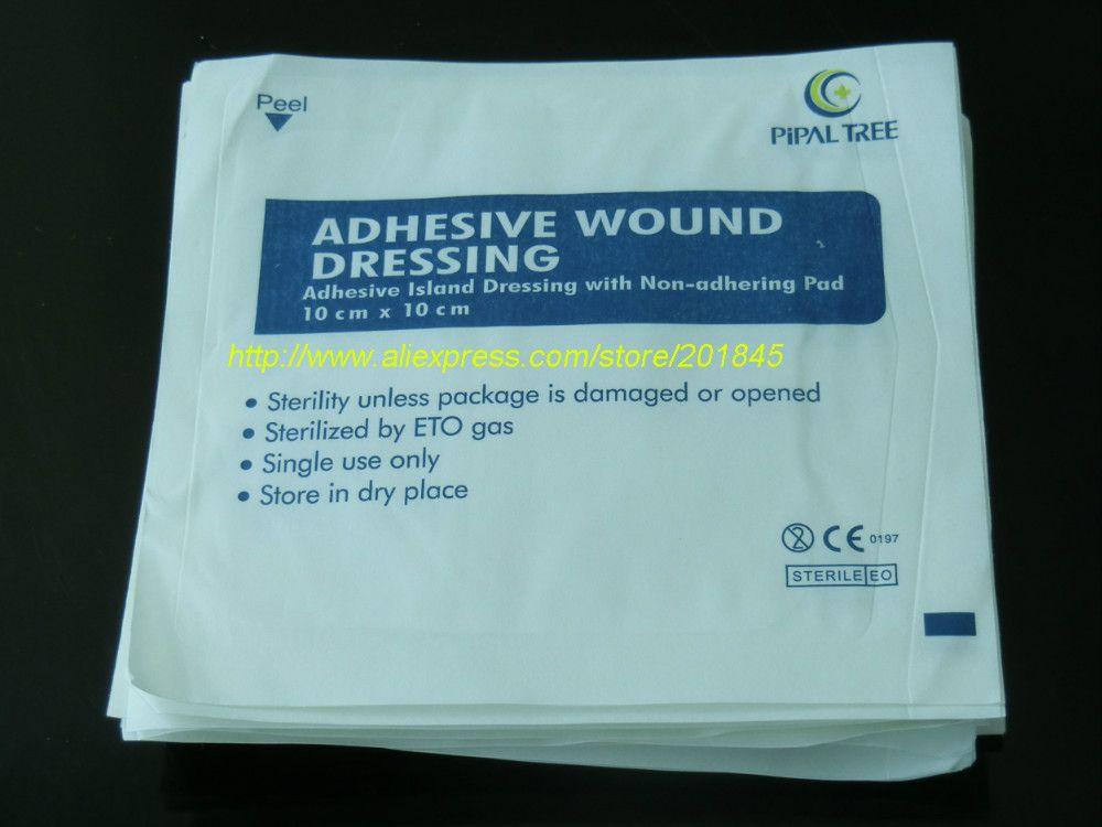Wholesale 100 Pcs Nonwoven Gauze Bandage Cloth Medical
