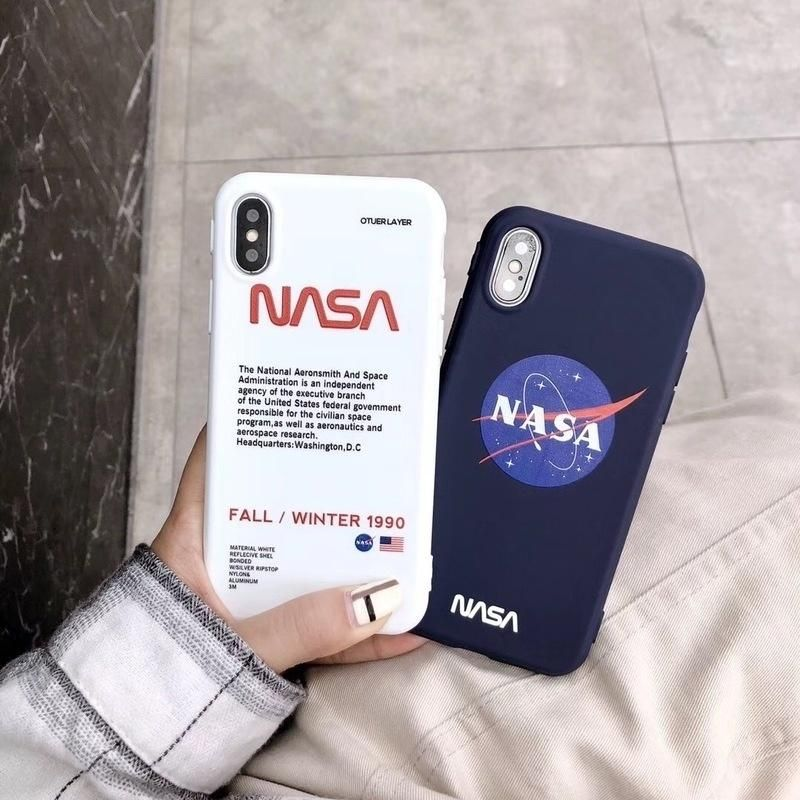 Fashion NASA American Astronaut Space Case for Iphone X XR XS MAX ...