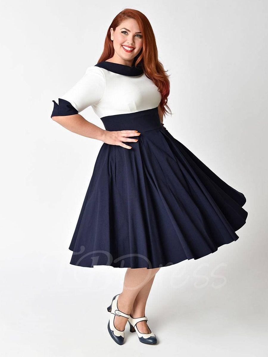 Tbdress.com offers high quality Plus Size Lapel Half Sleeve ...