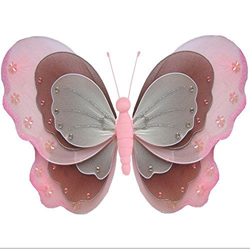 Butterfly Decorations 7 Small Pink Brown White Triple Layered Endearing Small Brown Bugs In Bathroom Inspiration