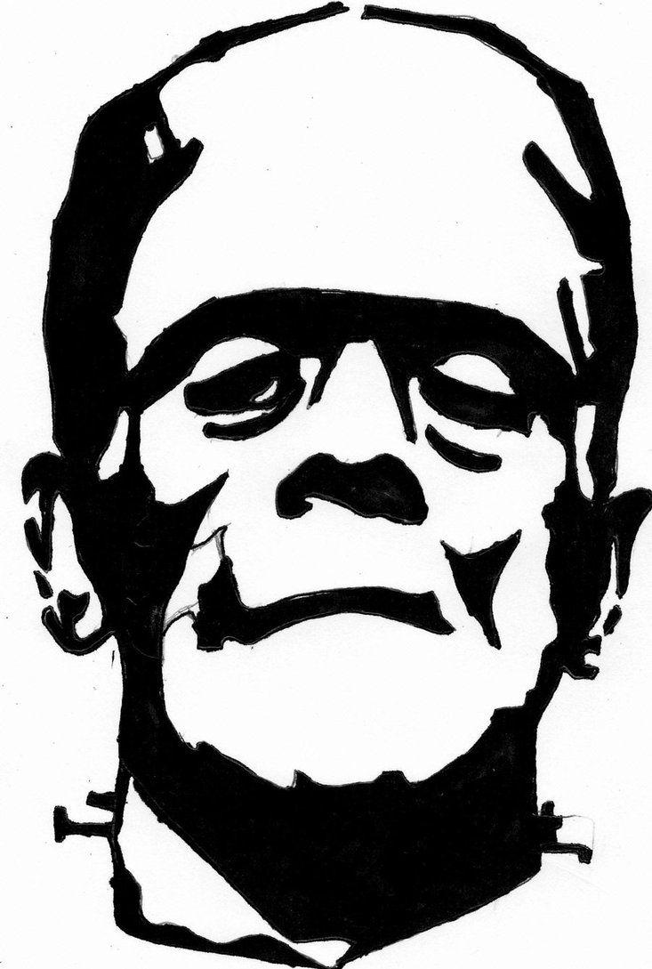 Dracula Silhouette Frankenstein Outline Drawing Frankenstein Face Drawing Frankenstein Art Frankenstein Silhouette Silhouette Clip Art