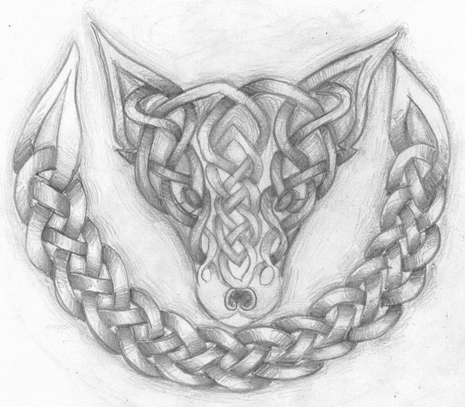 Celtic Fox Celtic Knot Drawing Celtic Coloring Celtic Knot Designs