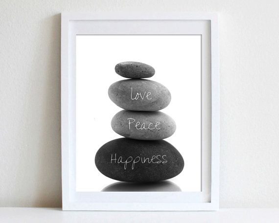 8x10 Wall Art Tranquility Rocks Stacked Peace Love