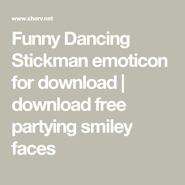 funny dancing stickman emoticon