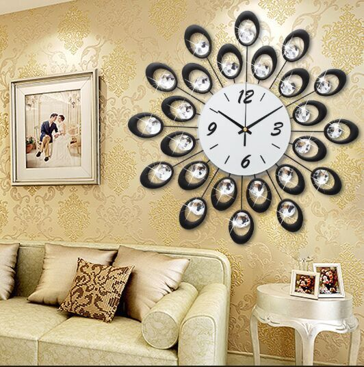Wall Decor: Vintage Large Decorative Wall Clock Home Decor Fashion ...