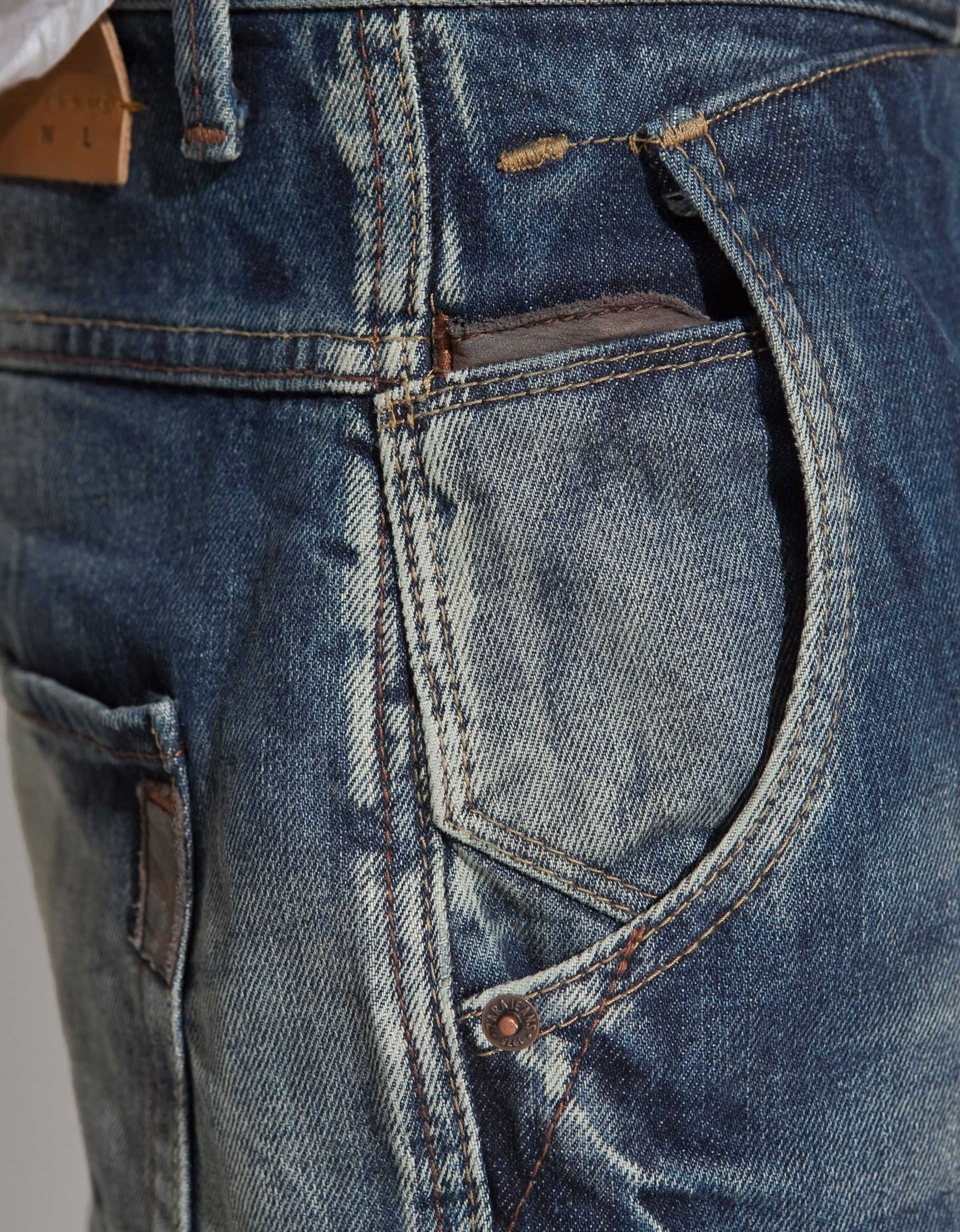 zara double pocket jeans in blue for men lyst the