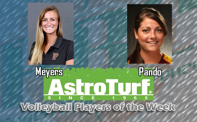 Flagler's Meyers; Armstrong's Pando Named AstroTurf volleyball Players of the Week