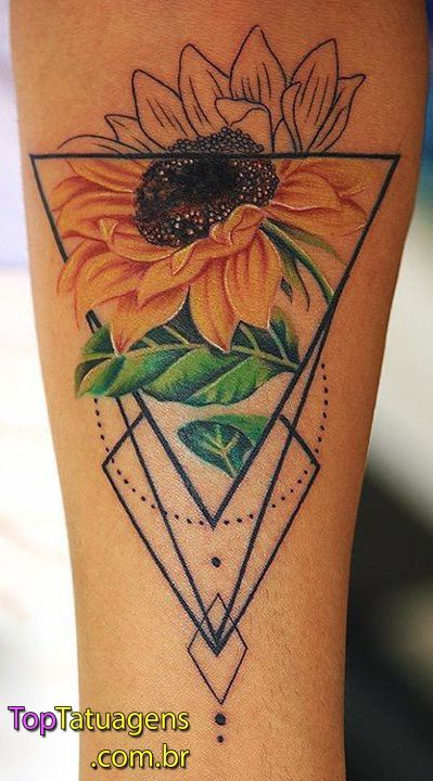 Photo of 25 Sunflower Tattoos to Get Inspired – Photos and Tattoos –  25 Sunflower Tattoo…