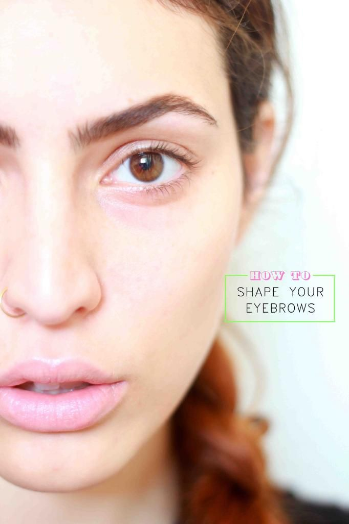 How to shape your eyebrows on www.PIXIEandPIXIER.com
