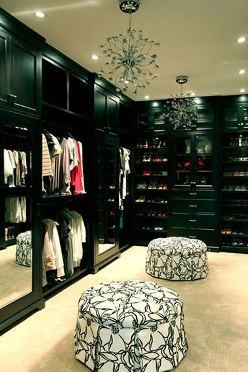 Best Walkin Closets  13 Enviable Closets From Pinterest  Elle Adorable Bedroom Design With Walk In Closet Review