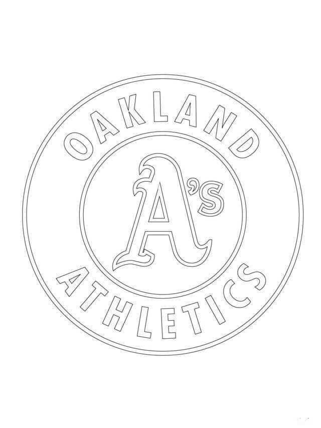 Major League Baseball Mlb Coloring Pages Athletics Logo