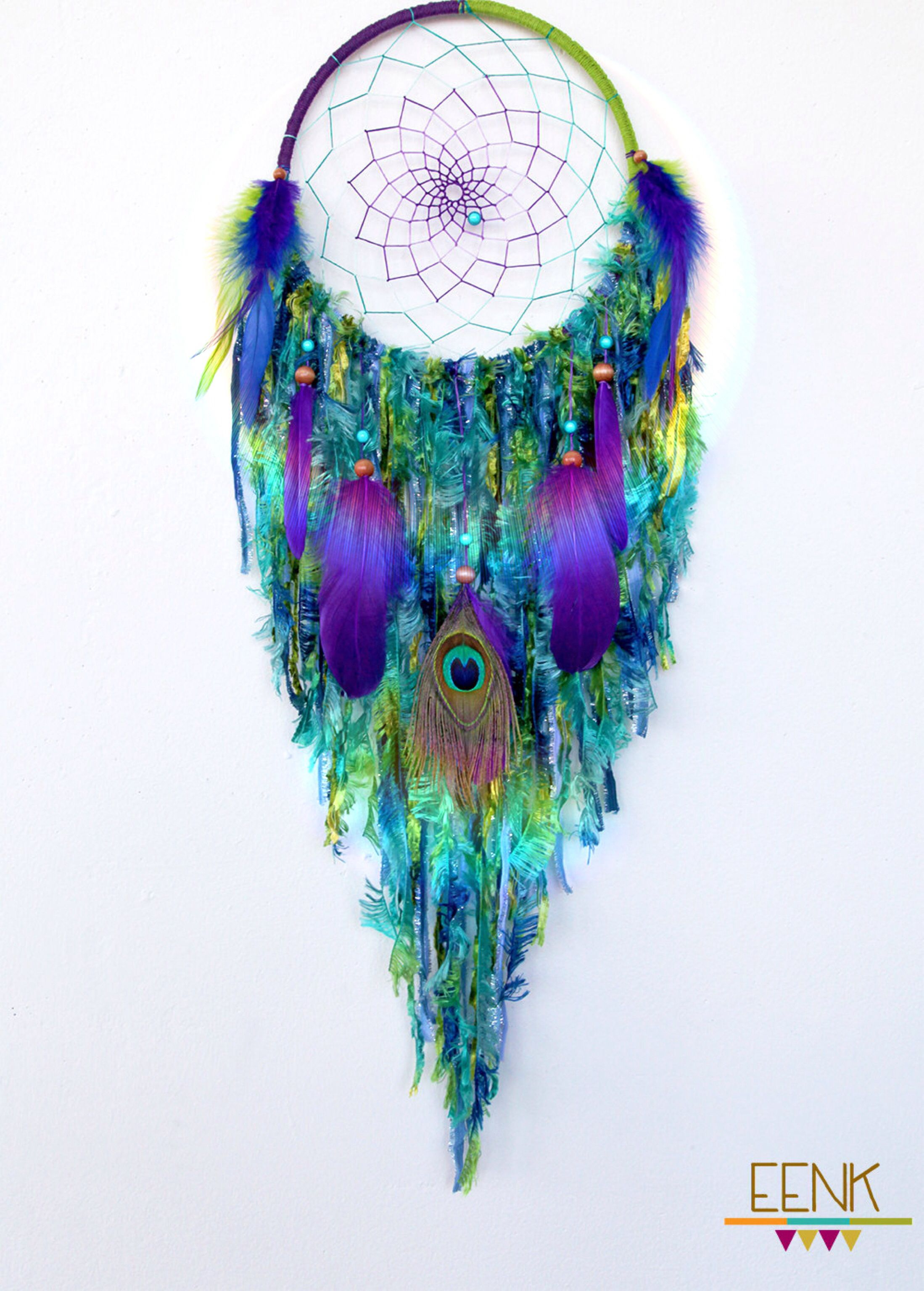 dreamcatchers peacock native style handwoven dreamcatcher