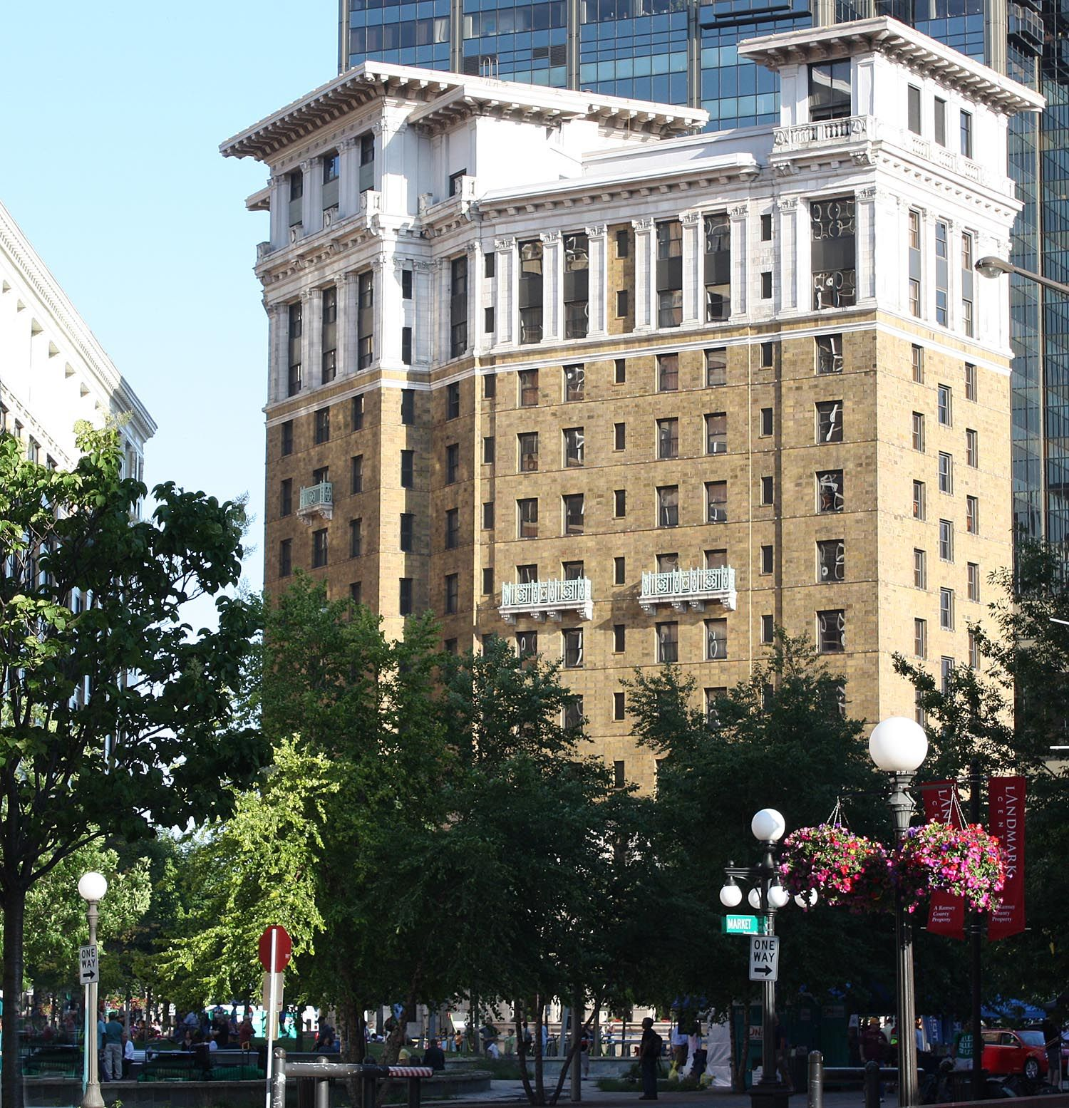 The Saint Paul Hotel From Landmark Park On Our North Side With