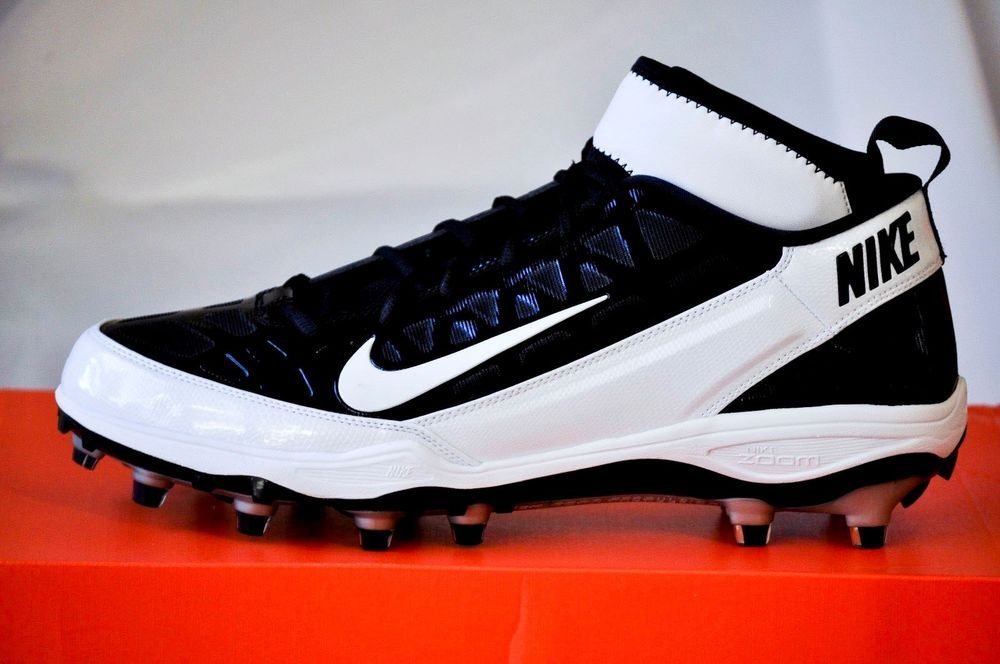 Nike Men Air Zoom Superbad 3 Football Cleats Black White size 13 D ...
