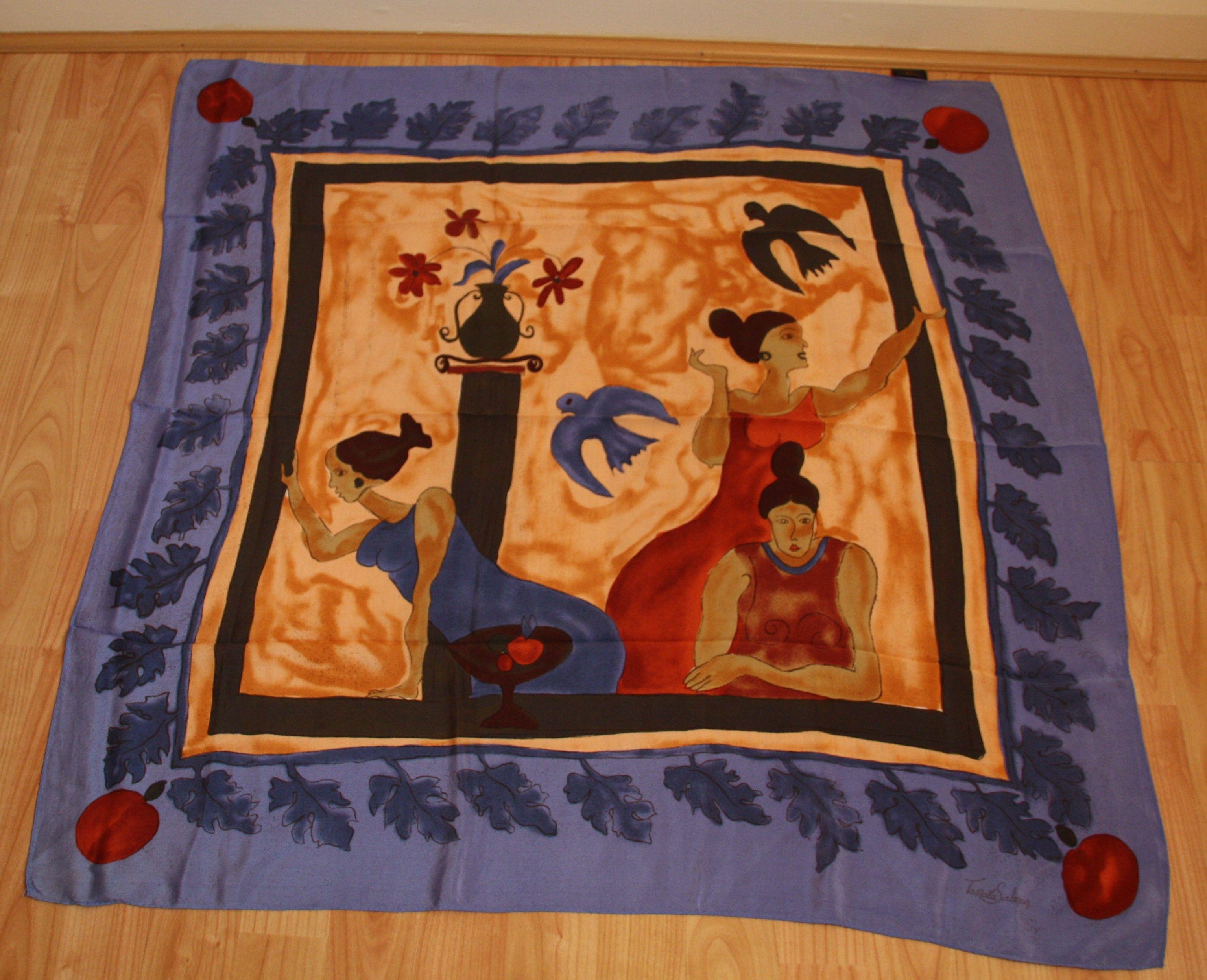 Tamala Salmon (later Creative Director of Liberty) scarf for Tie ...