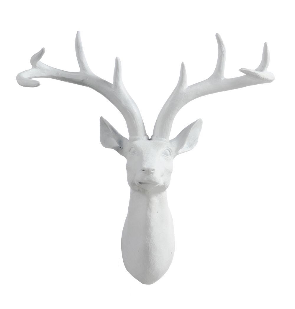 noodle resin deer head wall hanging - large - matt blatt   art