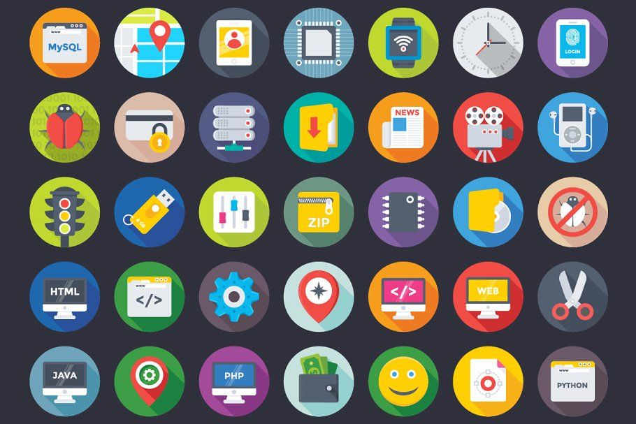 396 Web Design And Development Icons Web Design Icons Development Web Development Design Web Design Business Newsletter Templates