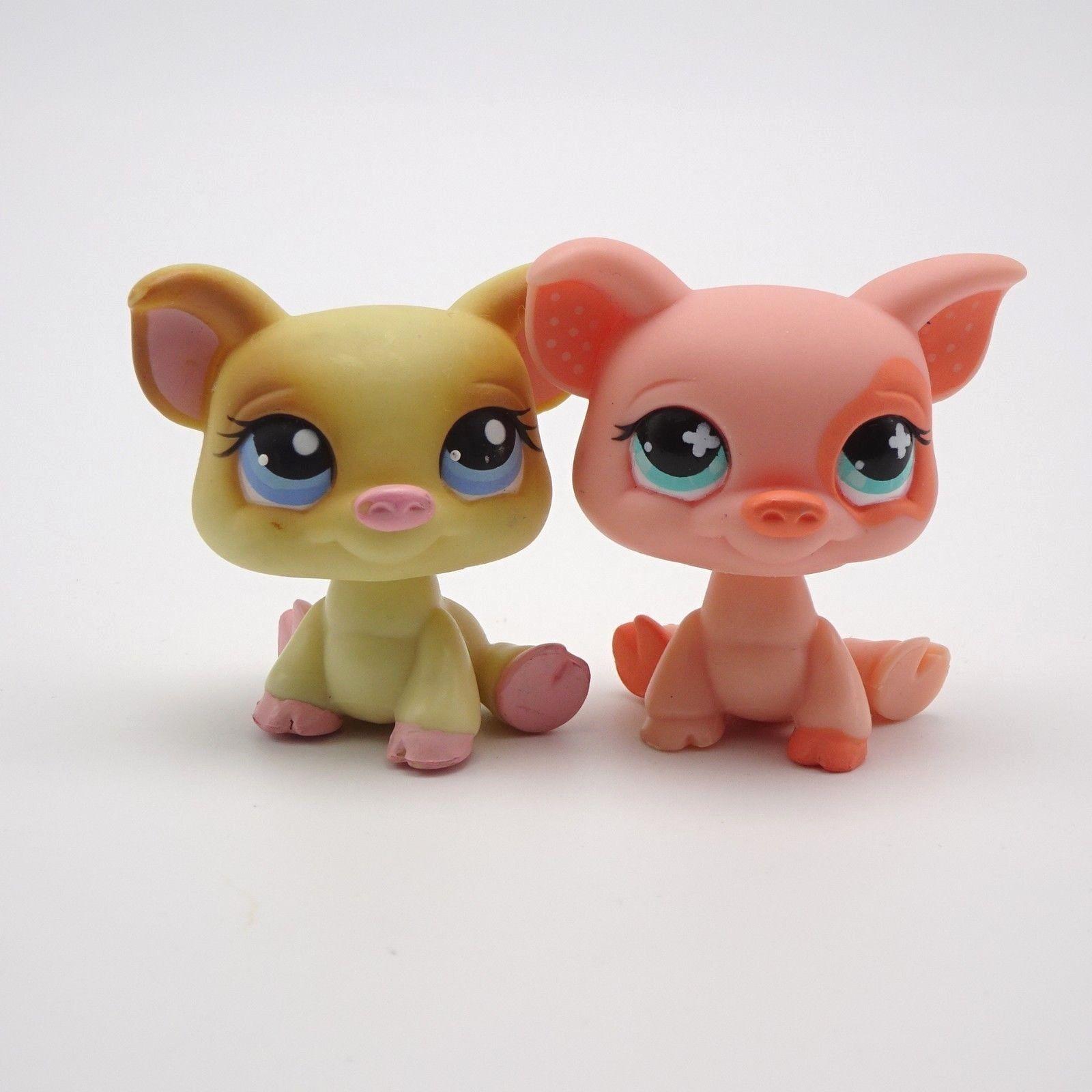 Littlest Pet Shop Lot 2 Little Pigs 266 Yellow 622 Pink Ebay Pet Pig Care Dog Toys Pet Pigs