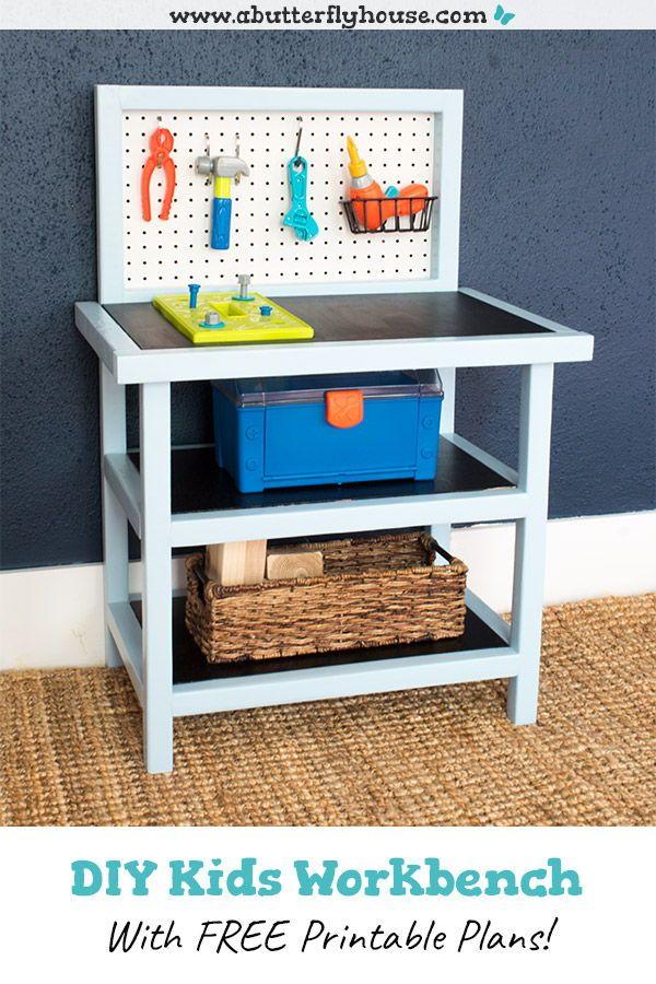 DIY Kids Workbench Plans
