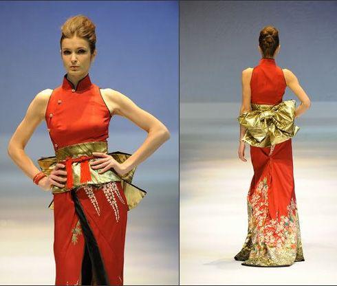 Kimono style dress inspired