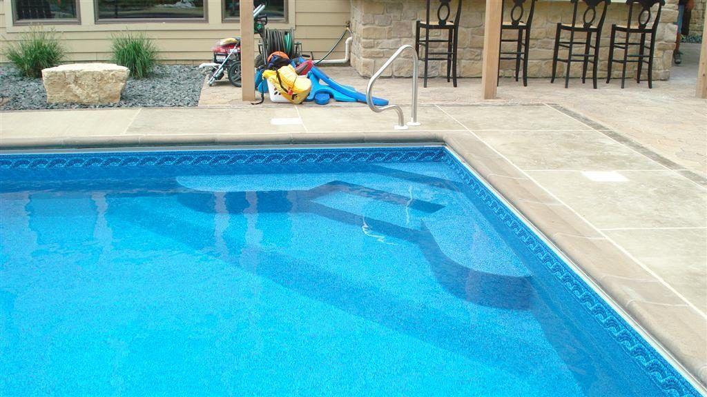 Custom Inground Pool Steps MN Escalera piscina, Piscinas