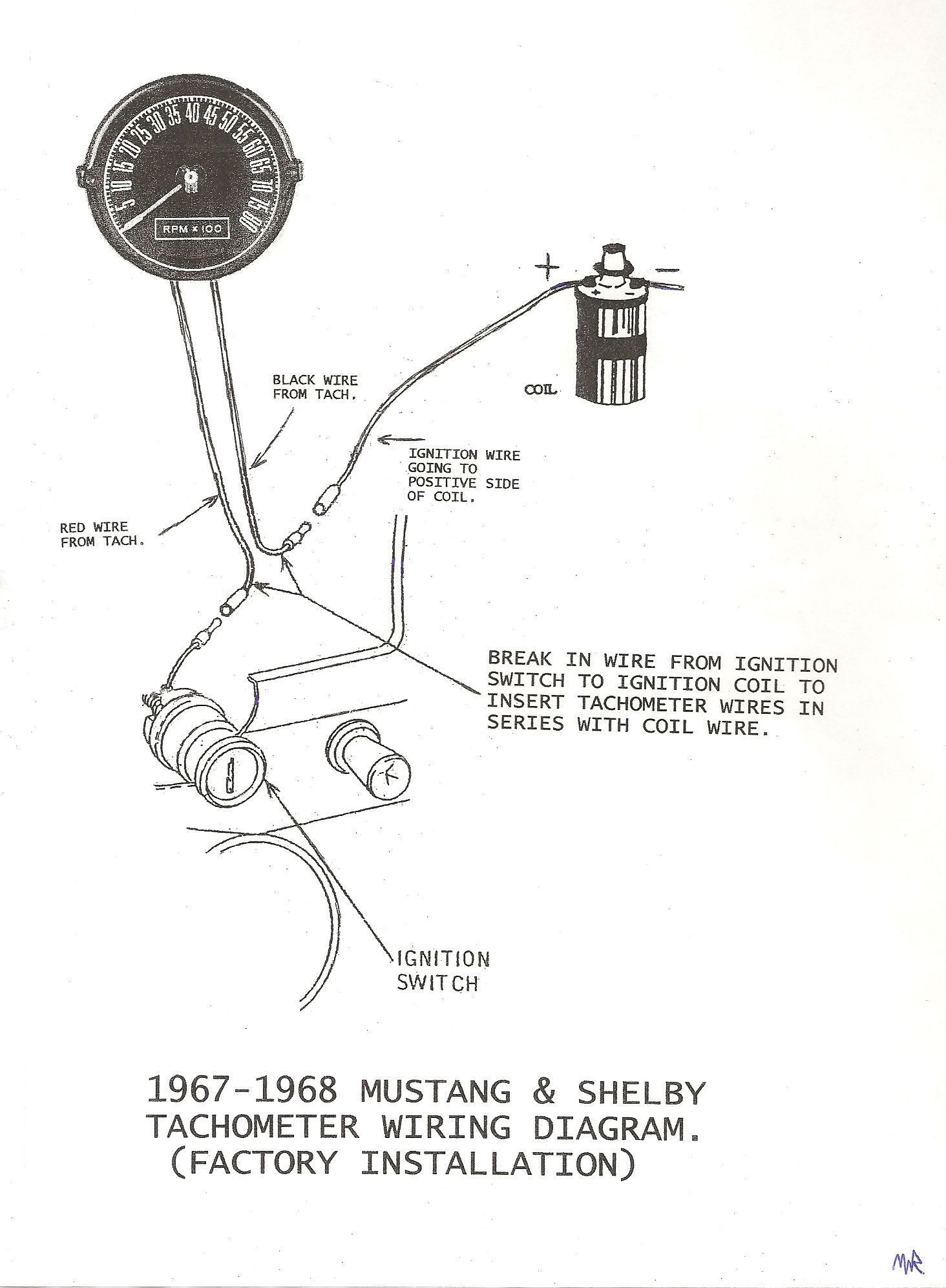 1980 Mustang Tach Wiring Diagram Fuse Box 1967 To Tachometer 68 Shelby Factory Rh Pinterest Co Uk