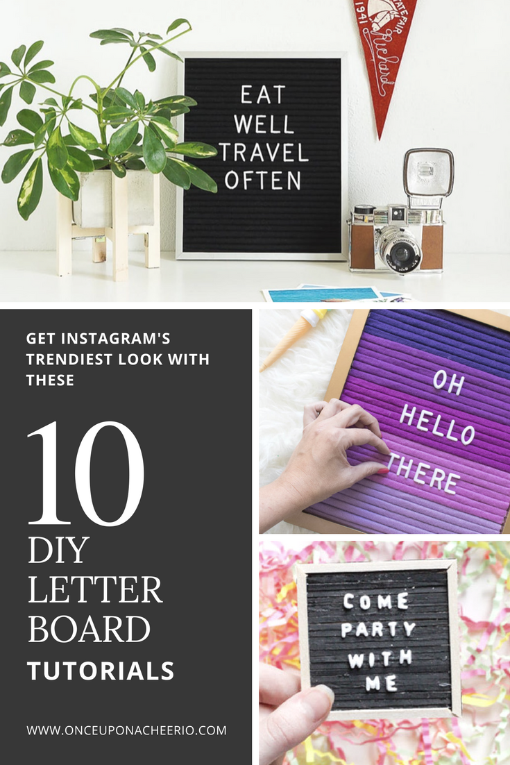 Top 10 Diy Letter Board Tutorials Craft Ideas Diy Letter Board