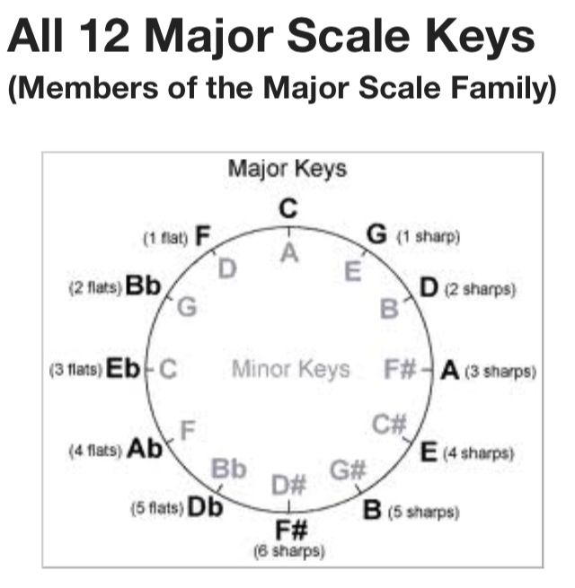 Memorize the cycle of keys! | To do: | Pinterest | Music theory ...