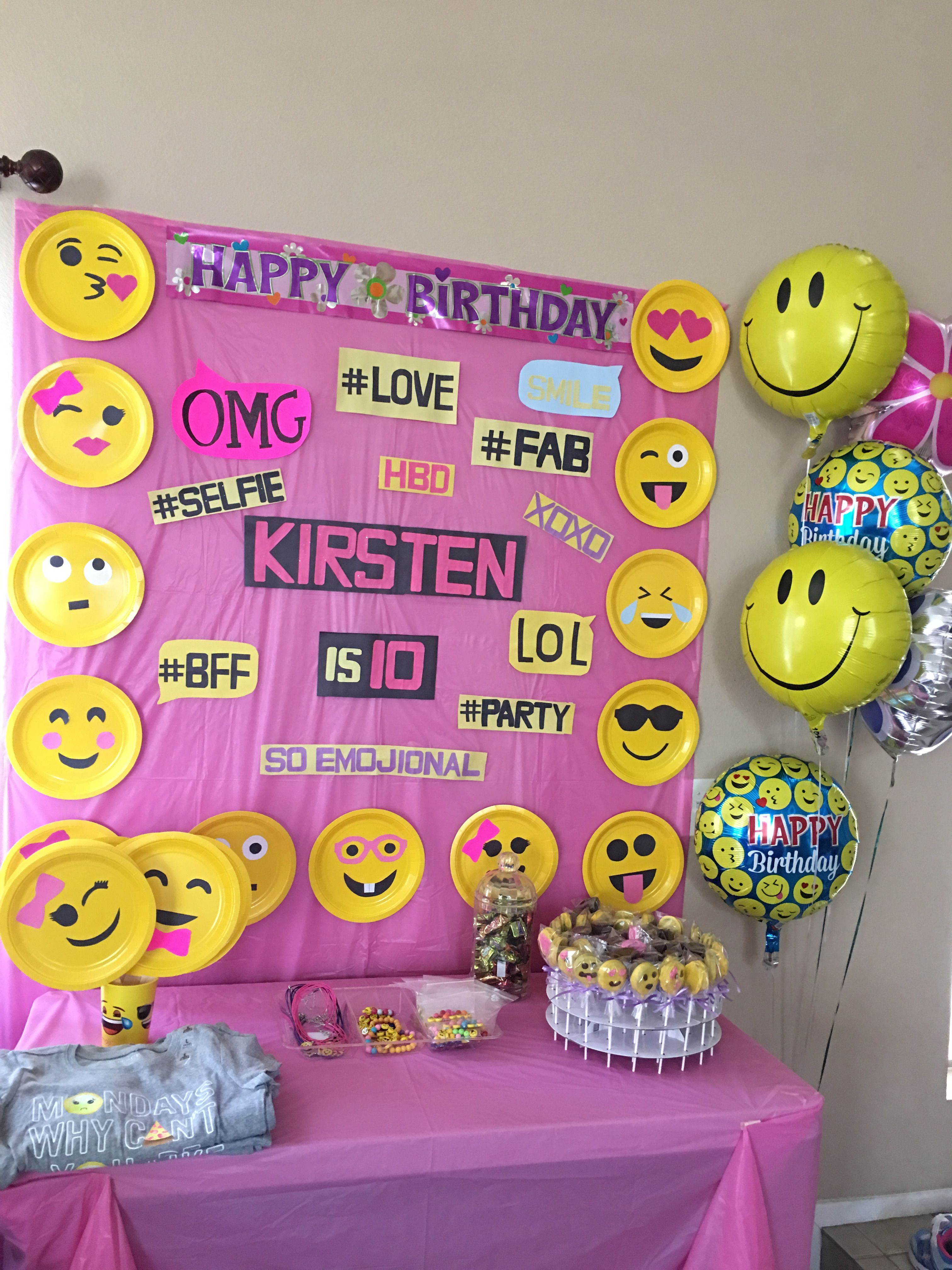 Emoji Birthday Party Emoji Birthday Party Emoji Party Decorations Emoji Theme Party