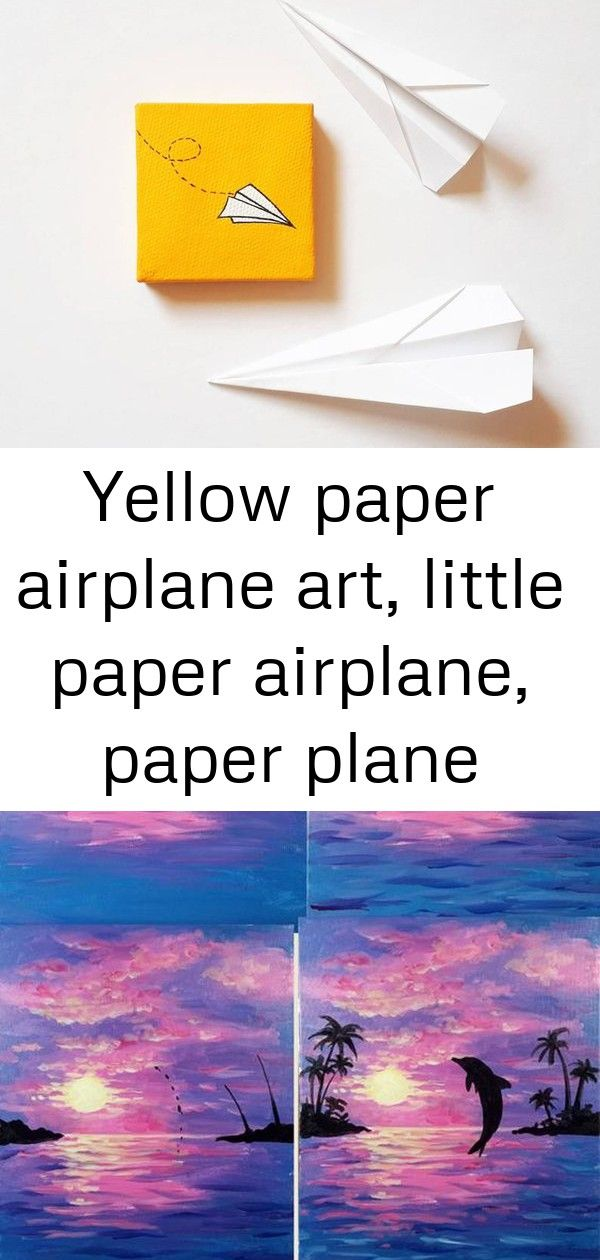 Yellow Paper Airplane Art Little Paper Airplane Paper Plane Etsy Quick Painting Tutorials Occasional Painters Easy A Airplane Art Paper Airplanes Paper Plane