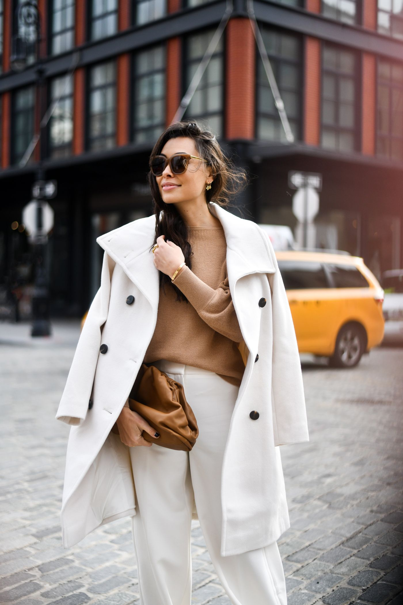 Winter Whites The Perfect White Trousers With Love From Kat White Coat Outfit Spring Coat Outfit Coat Outfits [ 2100 x 1400 Pixel ]
