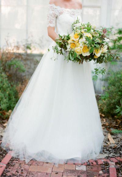 This magnificent gown: http://www.stylemepretty.com/2015/07/23/romantic-fairytale-santa-barbara-wedding-inspiration/ | Photography: Jose Villa - http://josevilla.com/
