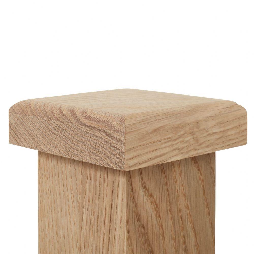 Solid White Oak Newel Post Cap For 90mm Full Newels 110x110mm In 2020 Newel Post Caps Oak Newel Post Post Cap