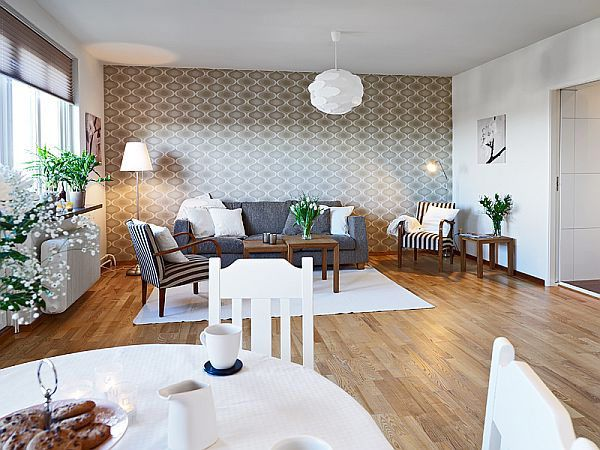 Modern Interiors  Wall Ideas Walls And Living Rooms Cool Dining Room Accent Wall Colors Inspiration Design