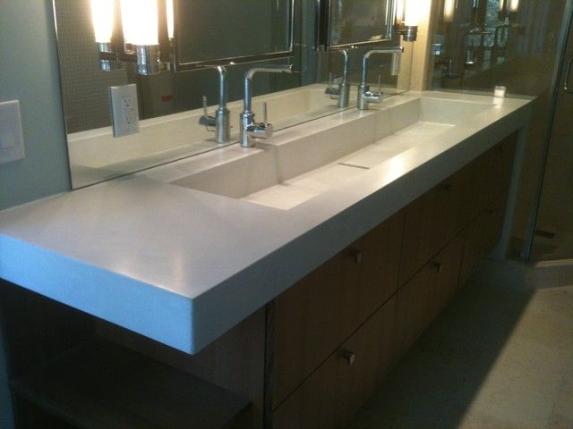 Exceptional Why Small Trough Bathroom Sink With Two Faucets Is A Great Choise .