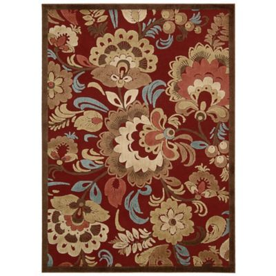 Nourison Gil Oversized Floral 7 9 X 10 10 Area Rug In Red