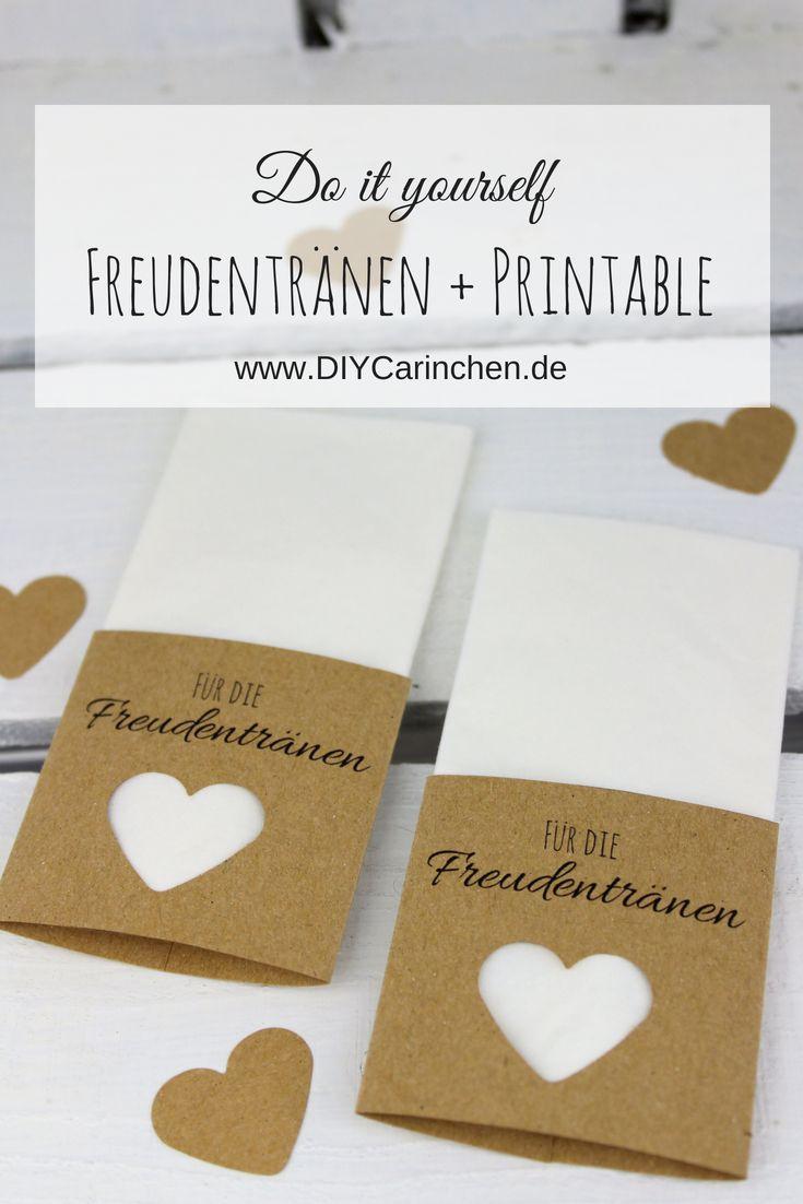 Photo of DIY Taschentücher für Freudentränen zur Hochzeit einfach sel…