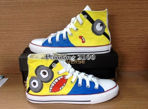 Despicable Me shoes  Custom Converse  Converse by Painting2100 ... 8439b5aaf