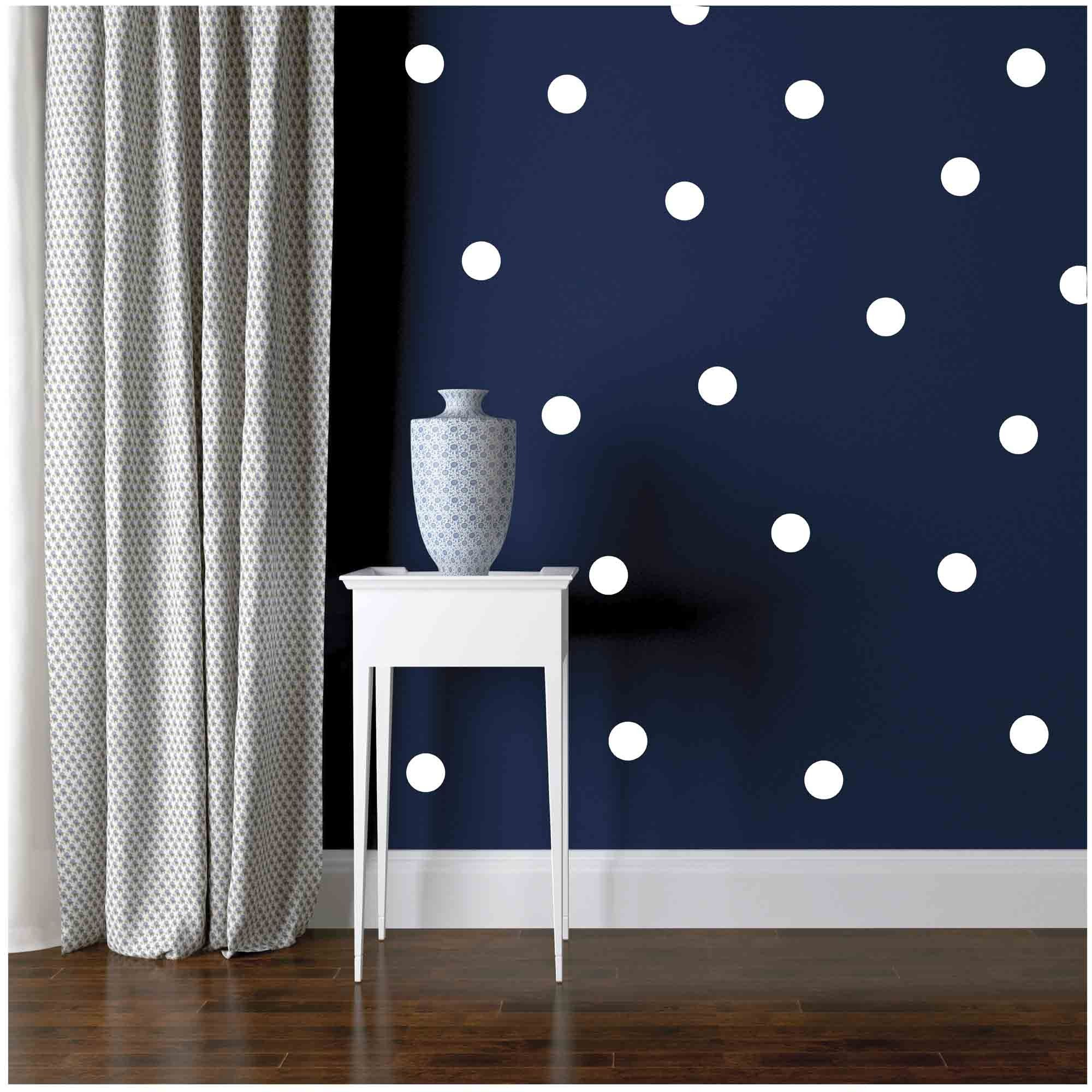 Owl Hills Wall Stickers: Polka Dots, White, 2.5\