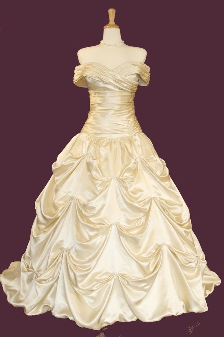 4a044cc4db0 Here is an exact replica of Belle s wedding dress from beauty and the beast  except its in wedding form